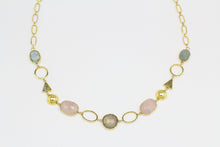 Load image into Gallery viewer, Ara Long Necklace with Natural Gemstones