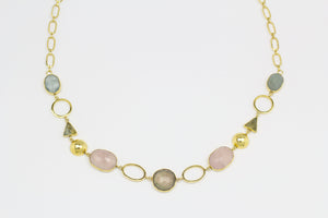 Ara Long Necklace with Natural Gemstones