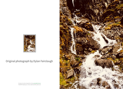 Waterfall Snowdonia - Greeting card by Dylan