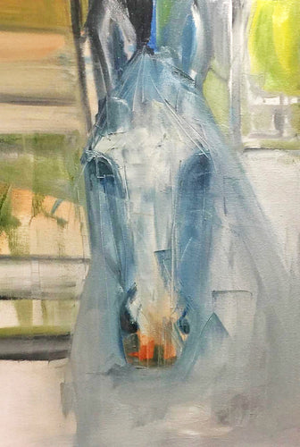 Grey Horse - Mounted Print