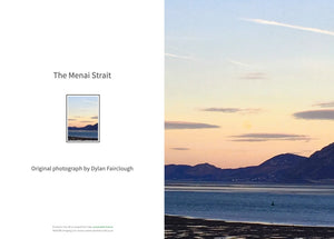 Menai Strait Sunrise - Greeting card by Dylan