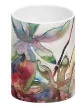 Load image into Gallery viewer, Bone China Mug - Caster Oil Leaf