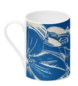 Bone China Mug - Blue Hydrangea