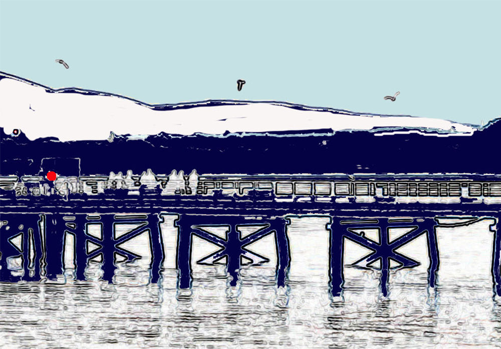 Beaumaris Pier - Greeting Card