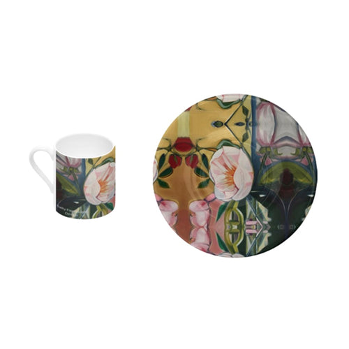 Blush Peony - Bone China Espresso Cup and Saucer