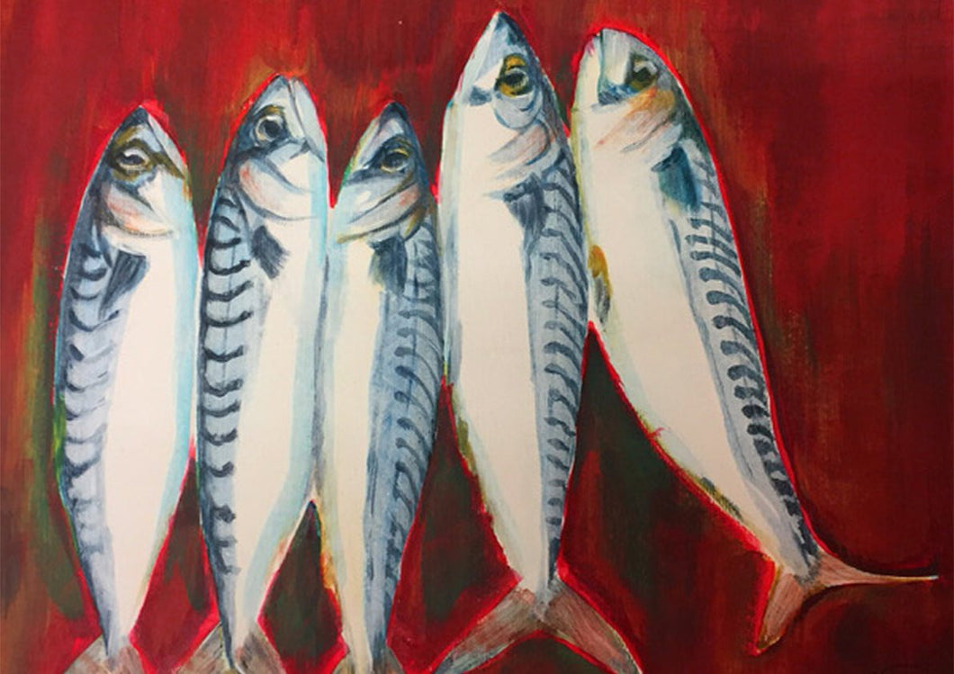 Mackerel - Mounted Print