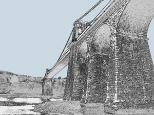 Menai Bridge - Arches - Mounted