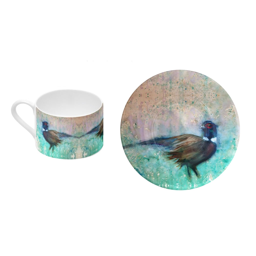 Pheasant - Bone China Coffee Cup and Saucer