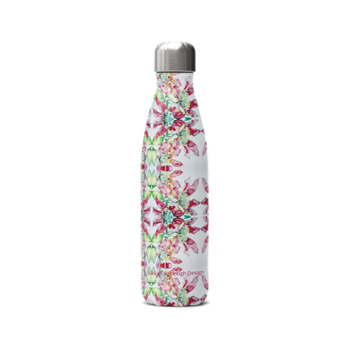 Pink Clematis - Stainless Steel Thermal Water Bottle