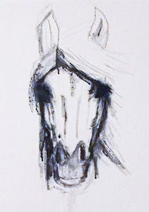 White Horse - Mounted Print