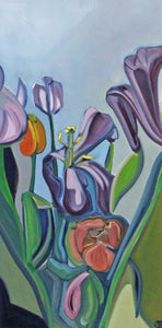 Through the Tulips - Mounted Print