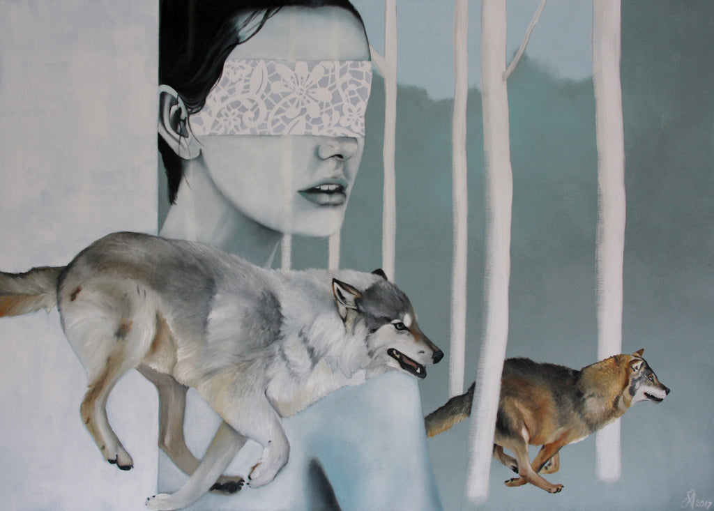 And of what was following me (100 x 140cm) - ArtFusion.nl