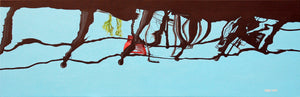 Bikes over the Prinsengracht (40 x 120cm) - ArtFusion.nl