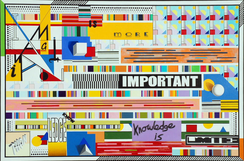 Imagination is more important then Knowledge (80 x 120cm) - ArtFusion.nl