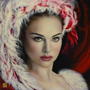 Red swan (60 x 60cm) - ArtFusion.nl