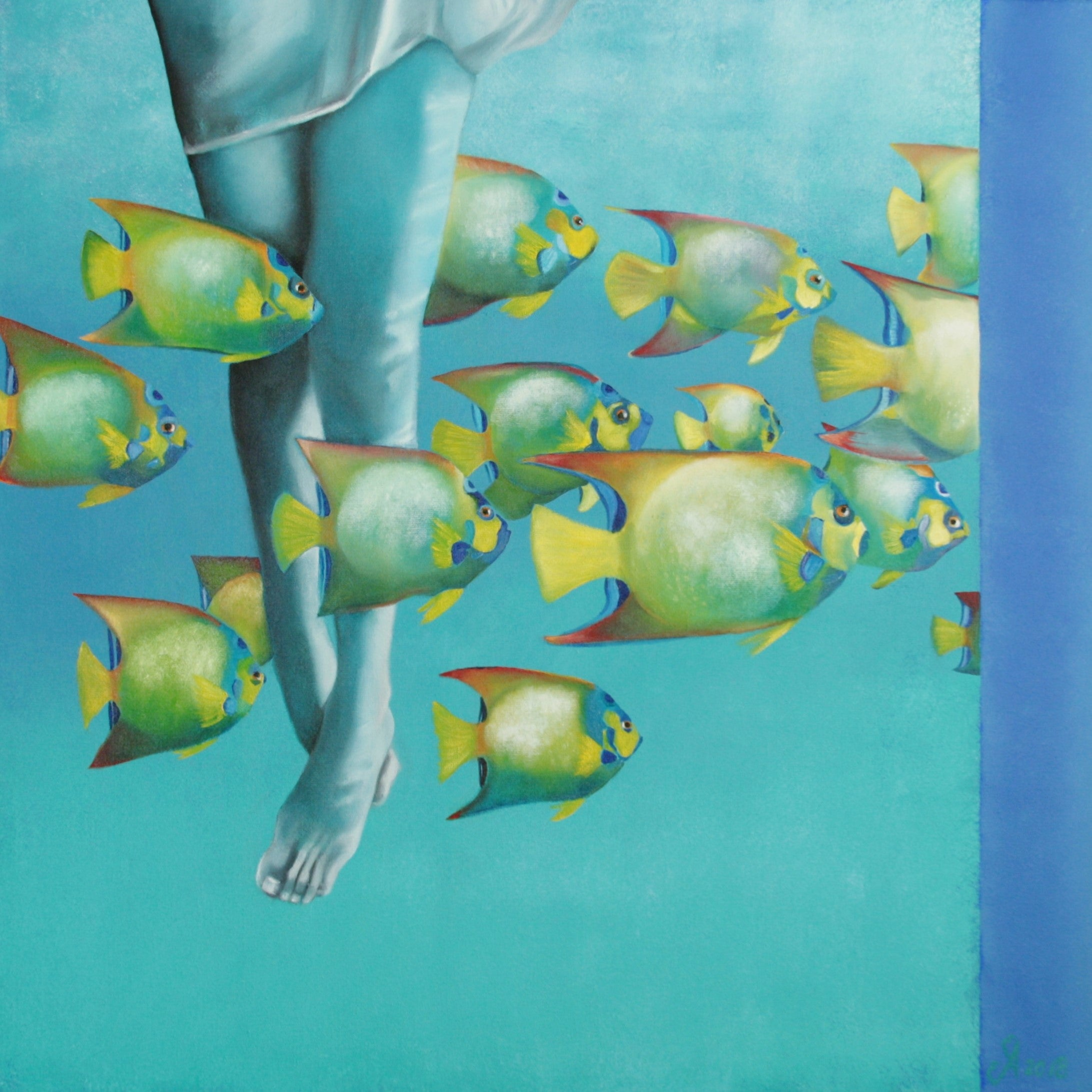Water ballet (90 x 90cm) - ArtFusion.nl