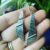 Sterling Silver Zig-Zag Textured Earrings