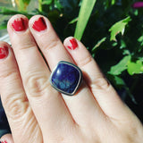Sugilite and Sterling Silver Ring