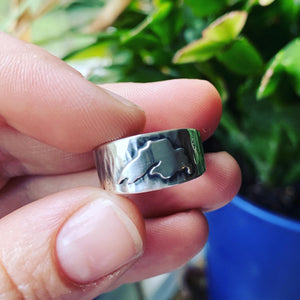 Sterling Silver Lake Superior Textured Ring