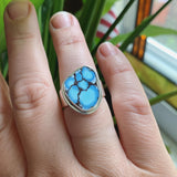 Kazakhstan Turquoise and Sterling Silver Ring