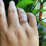 Rhodochrosite and Sterling Silver Ring