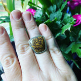 Coquina Jasper and Sterling Silver Ring