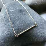 14K Gold and Sterling Silver Bar Necklace