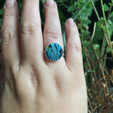 Abalone and Sterling Silver Ring