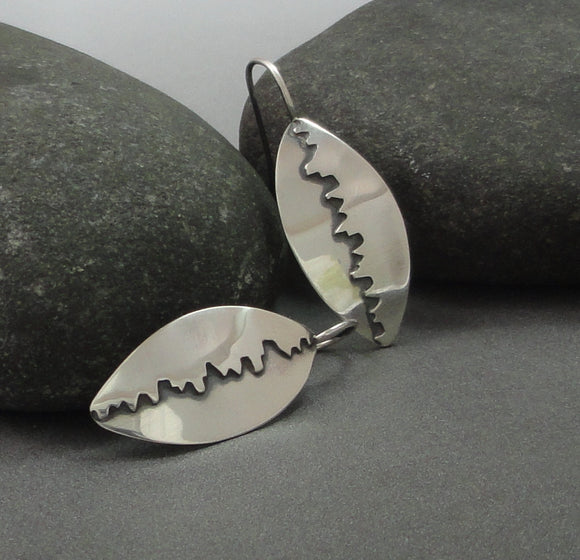 Sterling Silver Cut-Out Earrings