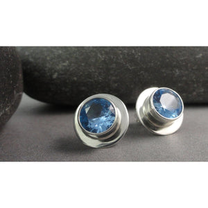 Gemstone Sterling Silver Posts