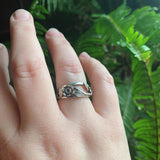 Hand Fabricated Sterling Silver Flower Ring