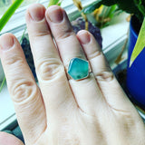 Gem Silica and Sterling Silver Ring