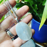 Labradorite and Sterling Silver Pendant with 3-chain Necklace