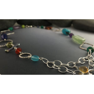 Multi-Stone Beaded Necklace