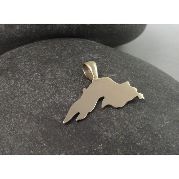14K Gold, Lake Superior Pendant