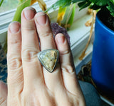 Regency Rose Plume Agate and Sterling Silver Ring