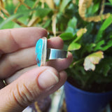 Chinese Turquoise and Sterling Silver Ring
