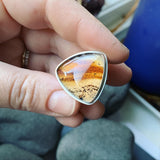 Montana Moss Agate and Sterling Silver Ring