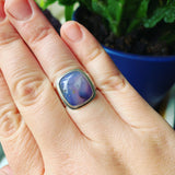 Amethystine Agate and Sterling Silver RIng