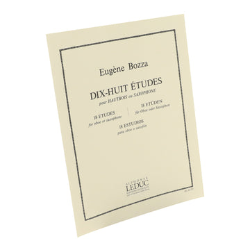 Bozza - 18 Etudes for Oboe or Saxophone