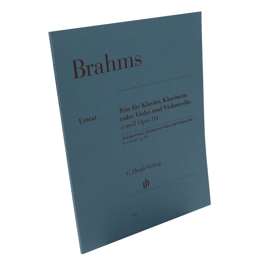 Brahms - Trio for Piano, Clarinet (or Viola) and Violoncello in a minor, Op. 114 (Henle Edition)