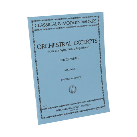 McGinnis - Orchestral Excerpts, Vol. 3