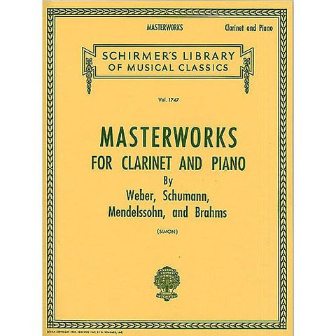 Simon, Eric - Masterworks for Clarinet and Piano