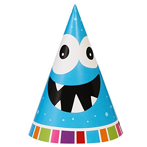 Aliens and Monsters Party Supplies - Cone Hats (8)