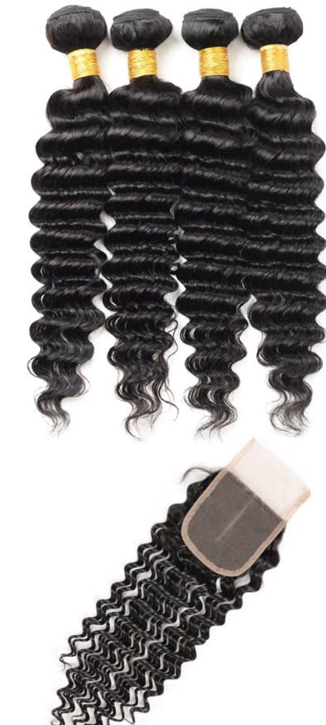 4 Bundles + FREE Closure