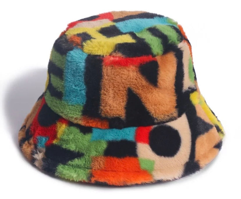 Printed Winter Bucket Hats