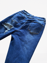 Load image into Gallery viewer, Custom Stacked Jeans Size 11/12