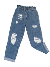 Load image into Gallery viewer, Distressed Boyfriend Jeans Size 10