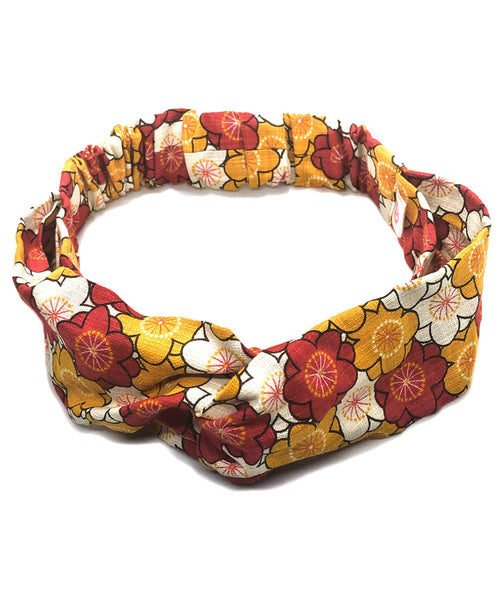 Japanese Fabric Floral Print headband / Cotton Fabric Headband