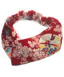 Cherry Blossom  Japanese Fabric headband /  Ladies wide head band